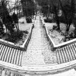 schody v botanickej záhrade, Banská Štiavnica