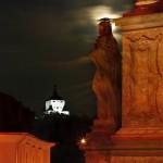 socha na Trojičnom stĺpe a Nový zámok, Banská Štiavnica